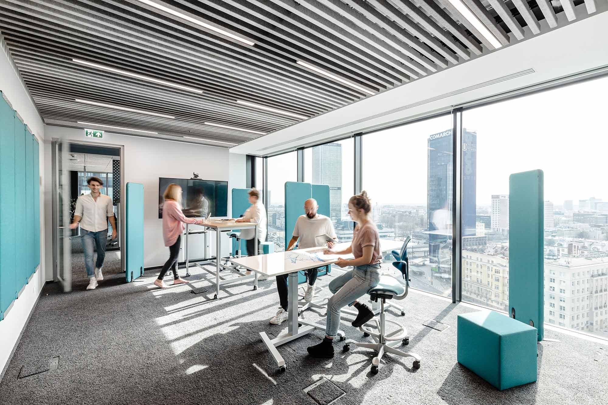 interior design project for Orsted renewable energy firm featuring flokk chairs