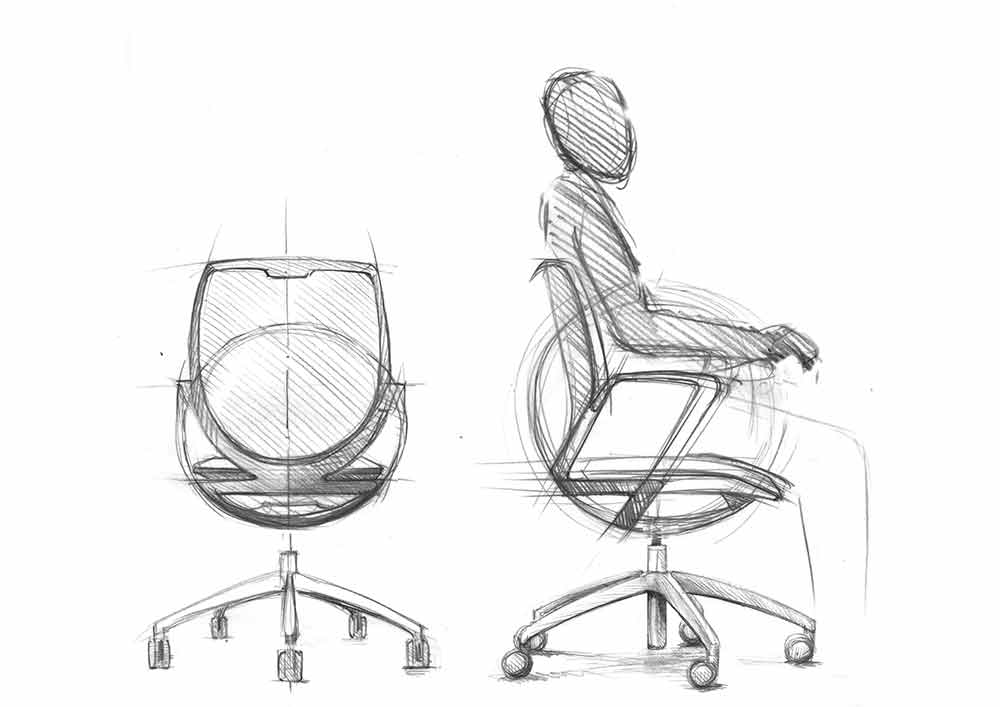 giroflex 313 sketch by paolo fancelli flokk design furniture