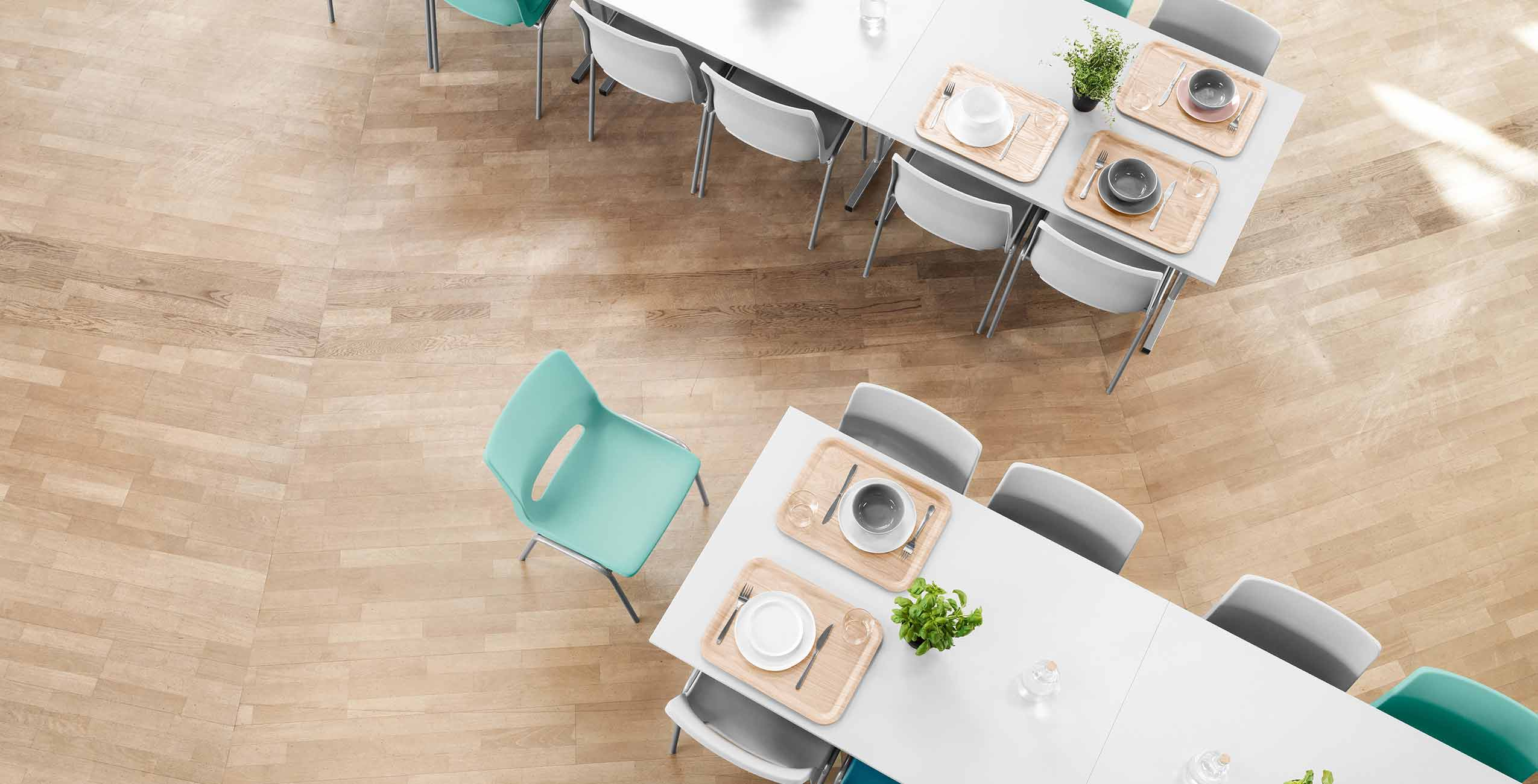 Chairs for cafeterias and canteens in school