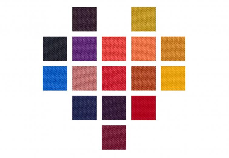 select fabric colours for furnitrue brand giroflex