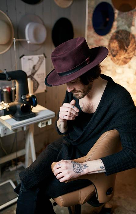 Havard Haga hatmaker using HÅG Capisco chairs for craftsman and skilled people