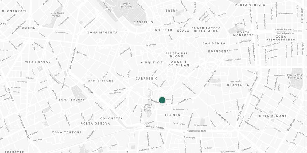 Milan showroom location