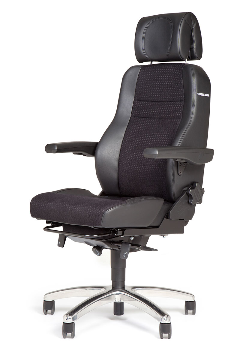 BMA Secur24 basic 24/7 desk chair leather black